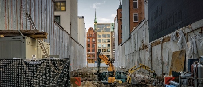 Construction site toilet